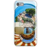 Little planet view from the balcony over the beach, seaside iPhone Case/Skin