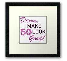 50th Birthday Humor Framed Print