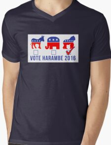 Vote Harambe 2016 Mens V-Neck T-Shirt