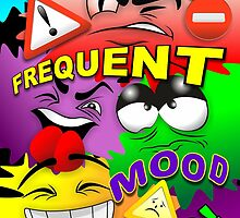 Warning Frequent Mood Swings Cartoon Faces by BluedarkArt