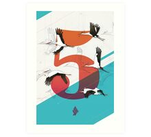5Birds Art Print
