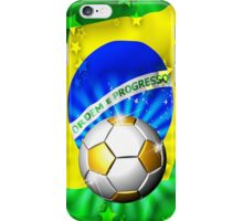 Brazil Flag Gold Green and Soccer Ball iPhone Case/Skin