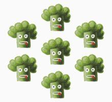 Funny Cartoon Broccoli Kids Clothes