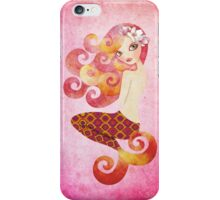 Coraleen, Mermaid in Pink iPhone Case/Skin