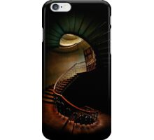 Spiral staircase in green and brown iPhone Case/Skin