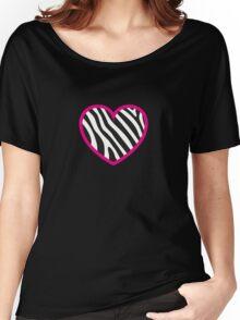 Zebra Heart Women's Relaxed Fit T-Shirt