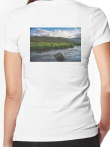 Rocky Mountain 2 Women's Fitted V-Neck T-Shirt