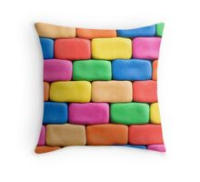 Building blocks made of play dough.modern,trendy,colorful Throw Pillow