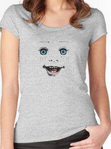 Smile like a doll! Women's Fitted Scoop T-Shirt