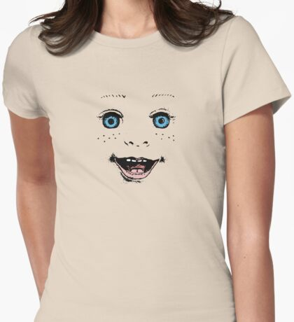 Smile like a doll! Womens Fitted T-Shirt