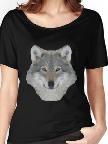 Gray Wolf Portrait Women's Relaxed Fit T-Shirt