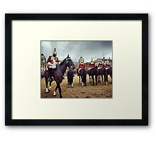 London Household Cavalry Horses Framed Print