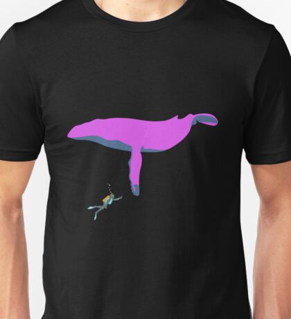 Scuba Whale #2 Unisex T-Shirt