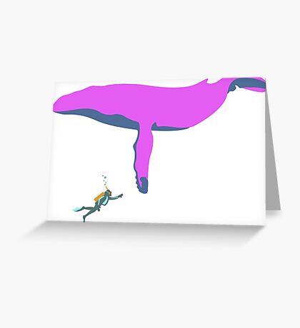Scuba Whale #2 Greeting Card
