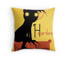 Heartless noir Throw Pillow
