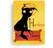 Heartless noir Canvas Print