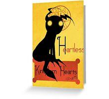 Heartless noir Greeting Card