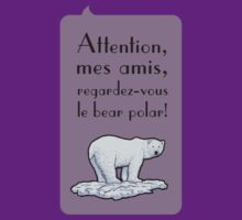 le bear polar - speech bubble/lilac by br0-harry