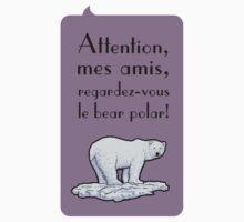 le bear polar - speech bubble/lilac Kids Clothes