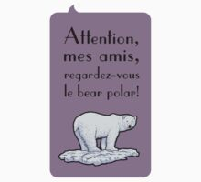 le bear polar - speech bubble/lilac Kids Tee