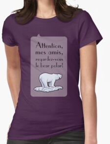 le bear polar - speech bubble/lilac Womens Fitted T-Shirt