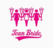 Team Bride (Bachelorette Party / Pink) Womens Fitted T-Shirt