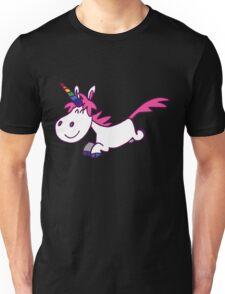 Galloping Cartoon Unicorn by Cheerful Madness!! Unisex T-Shirt