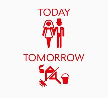 Today – Tomorrow (Marriage / Red) Womens Fitted T-Shirt