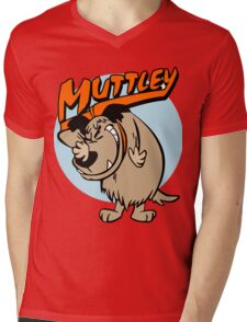 Muttley Laughing Mens V-Neck T-Shirt