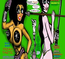 Space Chick & Nympho: Vampire Warrior Party Girl Comix #1 - Comic Book Cover by TexWatt