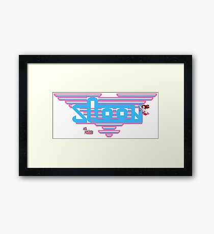 Sqoon - NES Title Screen Framed Print