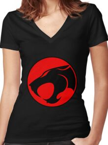 ThunderCats fanart Women's Fitted V-Neck T-Shirt