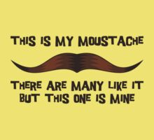 This is my Moustache. Kids Clothes