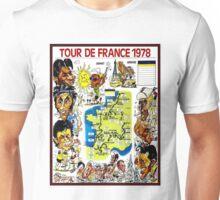 TOUR DE FRANCE; Vintage Bicycle Race Advertising Print Unisex T-Shirt