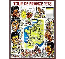 TOUR DE FRANCE; Vintage Bicycle Race Advertising Print Photographic Print