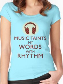 Music is Punk Poetry Women's Fitted Scoop T-Shirt