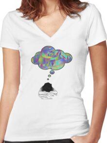 Imagination! Women's Fitted V-Neck T-Shirt