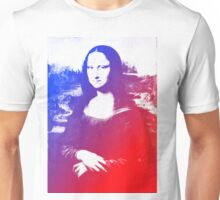 Purple Mona Lisa Unisex T-Shirt