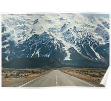 Snow Mountains Landscape Poster