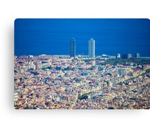 Barcelona City, Drone View Canvas Print