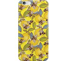 Yellow lemon and bee garden. iPhone Case/Skin