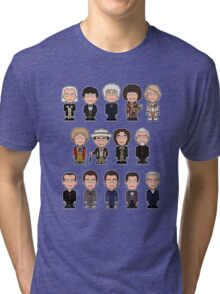 The Fourteen Doctors (shirt) Tri-blend T-Shirt