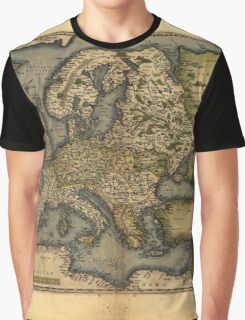 Antique Map of Europe, by Abraham Ortelius, circa 1570 Graphic T-Shirt
