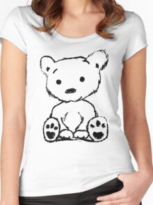 Bear Sketch Women's Fitted Scoop T-Shirt