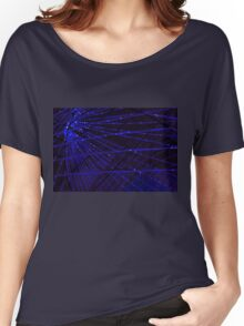 Abstract lens flare space or time travel concept background Women's Relaxed Fit T-Shirt