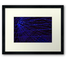 Abstract lens flare space or time travel concept background Framed Print