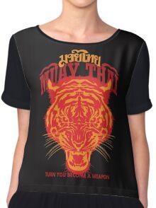 tiger muay thai thailand martial art 2 Chiffon Top