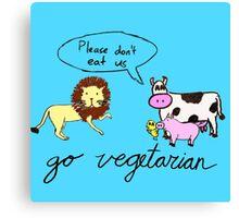 Go Vegetarian Canvas Print