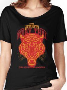 tiger muay thai thailand martial art 2 Women's Relaxed Fit T-Shirt
