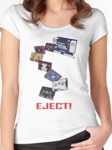 Soundwave: Eject! (colour) Women's Fitted Scoop T-Shirt